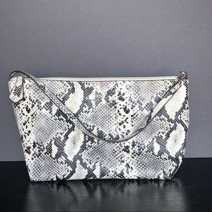 Guess faux snake skin print purse top handle